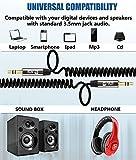 Câble Spirale Auxiliaire 2M, Câble Spiral Audio Auxiliaire Premium 3.5mm - Pour...