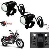 #4: Vheelocityin U1 LED Motorycle Fog Light Bike Projector Auxillary Spot Beam Light (Black, 2Pc) For Bajaj V15