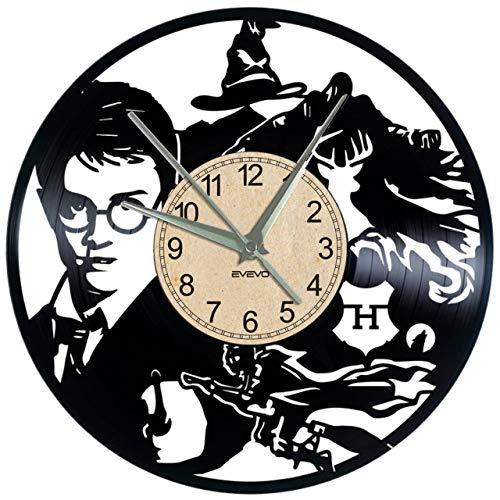 """51jxWHmMdLL - HARRY POTTER Reloj De Pared Vintage Accesorios De Decoración del Hogar Diseño Moderno Reloj De Vinilo Colgante Reloj De Pared Reloj Único 12"""" Idea de Regalo Creativo vinilo pared Reloj HARRY POTTER"""