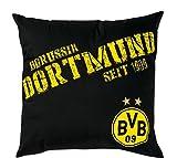 BVB Kissen Dortmund, Baumwolle, Schwarz / Gelb, 40 x 40 x 5 cm