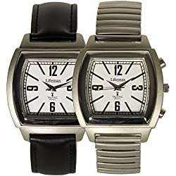Lifemax Vintage Talking Atomic Watch (Choose Strap Style)