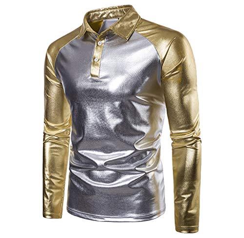 Preisvergleich Produktbild Luckycat Männer Herbst Winter Casual Patchwork Langarm Slim O Neck T-Shirt Top Bluse Mode 2018