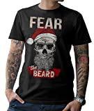 Santa Skull – Fear The Beard T-Shirt Weihnachtsmann Skull Bad X-Mas S-5XL