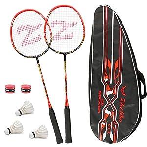 Philonext Badmintonschläger Set mit 3 Federbällen & Tragetasche & 2 Overgrip,...