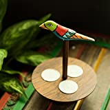 ExclusiveLane Elegant Bird Inspired Table Tea Light Holder In Sheesham Wood - T Lights, Hanging Lights, Decorative Lights, Candle Stand, Candle Holder, Decoration Items