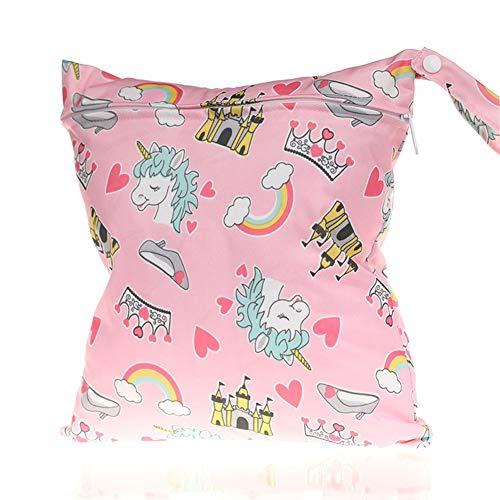 J Robin Baby Kleinkind Wasserdichtem Reißverschluss wiederverwendbare Stoff Windel Tasche,Ein Reißverschluss (Stil.B)