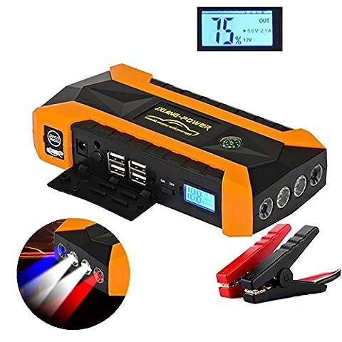 Batterie Voiture Diesel - Booster Batterie Portable PLUIESOLEIL 20000mAh 600A Peak