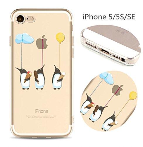 Cover iPhone 6 Plus Custodia telefono creativo trasparente silicone Guscio morbido Anti Graffio Copertura protettiva Anti-polvere paraurti Si applica a iPhone 6/6S Plus(5.5) disegno-31
