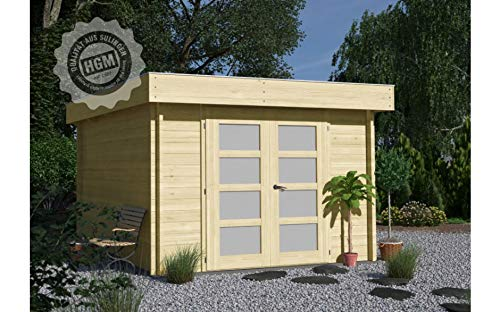 HGM GmbH Gartenhaus Nürnberg E + farbloser Imprägnierung Gartenhaus Holz Holzhaus