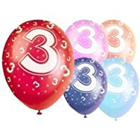 Latex Balloons 12 Inch - Age 3 - Pack of 5