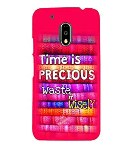 Print Masti Designer Back Case Cover for Motorola Moto G4 :: Moto G (4th Gen) (Time Watch Clock Past Future)