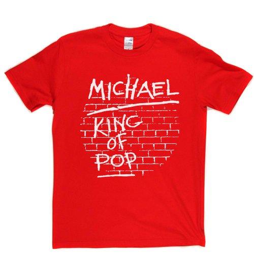 King of Pop Music Rock Genre Tee T-shirt Rot
