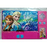 Kiku Gadget Pencil Box Best Quality--Jumbo Pencil Box---Frozen Elsa And Princess Anna Sisters Jumbo Pink Pencil Box For Girls. From The Hit Movie Frozen. Tab Style Pencil Boxes Make Great Gifts As They Help Kids Practice