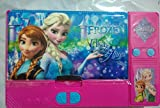 #2: Kiku Gadget Pencil Box Best Quality--Jumbo Pencil Box---Frozen Elsa and Princess Anna Sisters Jumbo Pink Pencil Box for Girls. From the Hit Movie Frozen. Tab Style Pencil Boxes Make Great Gifts As They Help Kids Practice