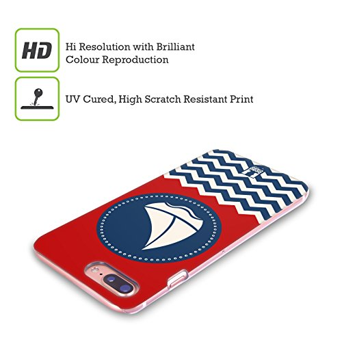 Head Case Designs Ancora Senza Peso Nautico - Stampe Cover Retro Rigida per Apple iPhone X Barca