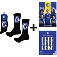 Offizielles Chelsea FC 2019 Fußball Kalender Und Socken Geschenk Set