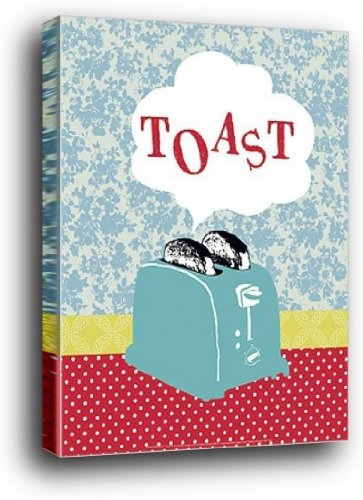1art1 Kochkunst Poster Kunstdruck als Blockbild - Retro-Toaster, Hélène Druvert (40 x 30cm)