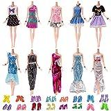 Yomon 10 Pezzi Vestito Festa di Matrimonio, 10 Paia di Scarpe per Barbie Piccoli Regali per Bambina