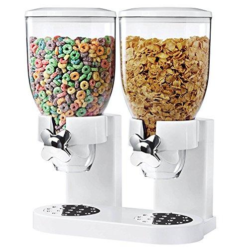 BAKAJI Dispenser con dosatore e distributore di cereali o caramelle con rotella