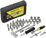 STANLEY STMT72794-8-12 1/4'' Square Drive Metric Socket Se