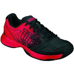 Wilson Kaos Comp Jr, Zapatillas de Tenis Unisex Niños, Multicolor (Radiant Red X166), 28.5 EU