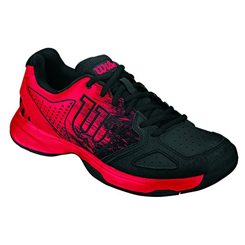 Wilson KAOS COMP JR RADIANT.R/BK/RADIANT.R,   Tennisschuhe, Rot (Radiant Red/Black/Radiant Red), 35 1/3 EU (2.5 UK)