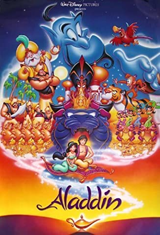 ALADDIN ...Childrens Classic Animated Movie Poster A1 A2 A3 A4