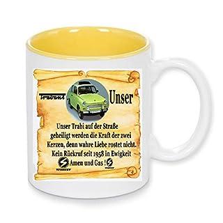 Handmade by GmH Kaffeebecher Trabant 601 Limousine Kult-Trabbi DDR-Ostalgie rundum Bedruckt