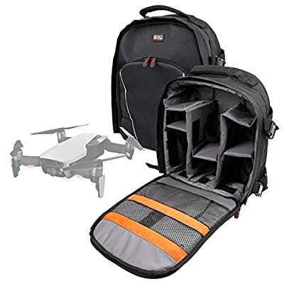 DURAGADGET Black Water-Resistant Rucksack/Backpack with Customizable Interior & Raincover for the DJI Mavic Air/PRO FLYD/Mavic/Tello