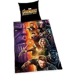 Herding Juego de cama de los Vengadores de infinity War, algodón, multicolor, 200x 135x 2cm