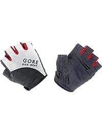 Gore Bike Wear Guantes de Hombre, Ciclismo, Dedos Cortos, Gore Selected Fabrics, Talla 7, Negro/Blanco, GELEME