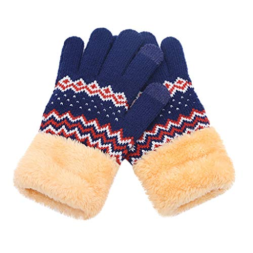 Frauen Männer Winter Geometric Knit Klick Bildschirm Finger -
