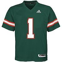 adidas Miami Hurricanes NCAA #1 Youth Replica Green Football Jersey