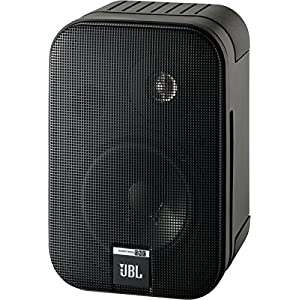 "JBL Control One Rugged 2-Way 100mm (4"") Bookshelf Satellite Audio Monitor Speakers (Pair) - Black Chrome"