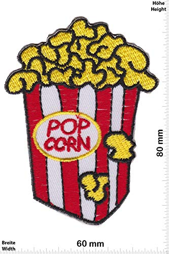 Patch - Pop Corn - red White - Fun - Fun - Fun - Aufnäher - zum aufbügeln - Iron On -