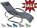 Meerweh Sale Luxus XXL Aluminium Schwingliege Swingliege Gartenliege Sonnenliege anthrazit