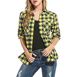 ZeagooMujer Camisa Básica de Algodon