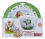 Unbekannt Fun House 005306Asterix Set Mahlzeit für Kinder Polypropylen weiß 26,5x 7x 25cm 3-teilig