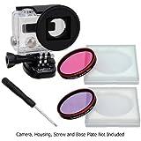 Fotodiox WonderPana GoPro HERO3 GoTough-Kit-Adaptateur de filtre à eau avec rose et violet Correction deux filtres et GoPro HERO3 marin pour GoPro Hero 3 **Non
