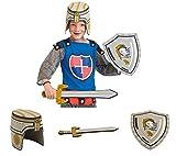 Folat Ritter Waffen Set 3-teilig Schwert Helm Schild Moosgummi Zum Ritter Kostüm