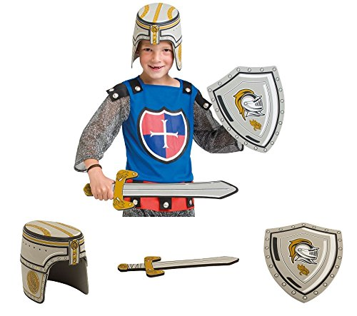 Schild Ritter Schwert Kostüm Und - Folat Ritter Waffen Set 3-teilig Schwert Helm Schild Moosgummi Zum Ritter Kostüm