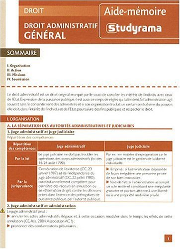 Droit Administratif General 2 ed