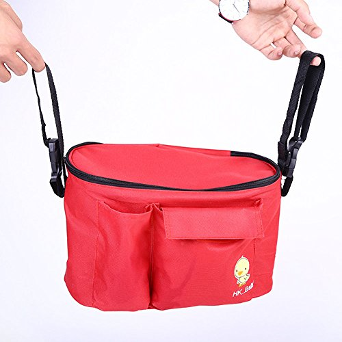 Wickeltasche Baby Windeltasche Pflegetasche Mumie Tasche Kinderwagen Babytasche Rot Rot