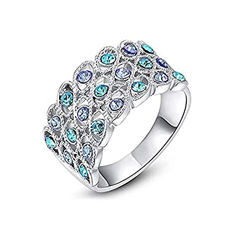 DTZH Rings Jewellery Women's Rings European-American Bak Jinglan Series Ring Material: Alloy