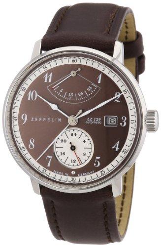 Zeppelin 70605 - Reloj analógico automático para hombre con correa de piel, color marrón