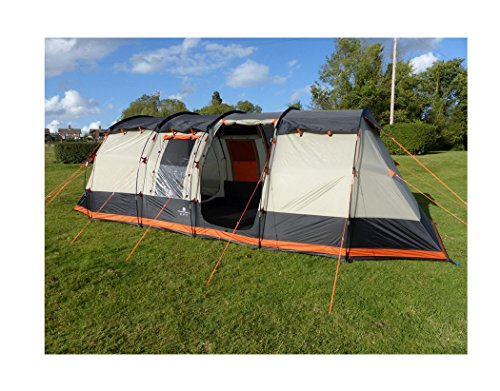 Olpro Wichenford 2.0 Technical Family 8 Berth Tent ...  sc 1 st  UK Sports Outdoors C&ing Hiking Jogging Gym fitness wear Yoga & Olpro Wichenford 2.0 Technical Family 8 Berth Tent - Black/Grey ...