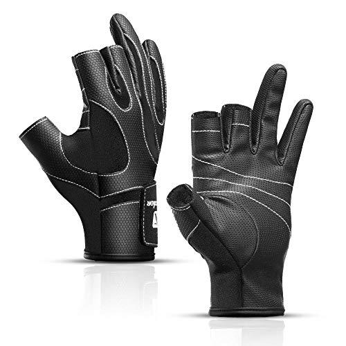 Mountain Road Bike Handschuhe Herren 3 Löcher Atmungsaktives Material Sport Fitness Handschuhe @ L, für Motorrad Radfahren Klettern