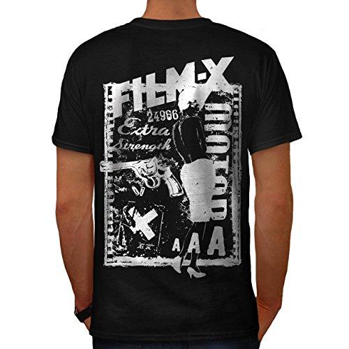 Gewehr Film Mädchen Heiß Mode Mädchen & Guns Herren M T-shirt Zurück | Wellcoda (Weibliche Film Stars Kostüme)