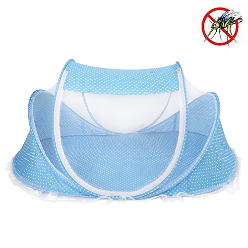 Plegable Bebé Infantil Pop-up Cuna,Cuna Anti-Bug Carpa Mosquitera Con Colchón Almohada,Portable Nursery...