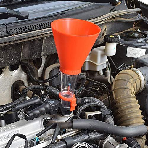 Motto.h Imbuti Carburante universali Imbuti Olio per imbuti Auto Sistema Motore in plastica Tipo filettato Imbuto Regolabile Bocca Flessibile per Imbuto di rifornimento Acqua Olio Dependab
